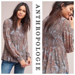 Anthropologie Akemi + Kin Adria Blue Top Small